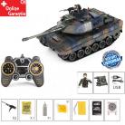 Ferngesteuerter Panzer Tank Battle Tank Leopard RC Camouflage Tarn Airsoft Softair BB Kugeln Schiess Funktion Komplettset Spielzeug Ferngesteuert 47cm XL