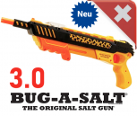 Bug-A-Salt Bug a Salt Version 3.0 BUG-A-SALT ORANGE CRUSH EDITION Flinte Fliegen Jagd Fliegenkiller Salz Gewehr Schrotflinte Salzgewehr Luftdruckgewehr gegen Insekten Fliegenklatsche Gadget