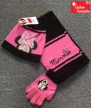 Disney Minnie Maus Minnie Mouse Mütze Cap Beanie Handschuhe Handschuhen Schal Winter Kleidung Set Winterset Kind Mädchen Girl