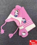 Hello Kitty Mütze Beanie Kappe Cap Schal Handschuhe Handschuhen Set Winter Herbst Kleidung HK Accessoire Hellokitty Kinder Mädchen HK