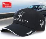 Maserati Fan Cap Mütze Baseballcap Kappe Schwarz Accessoire Baumwolle