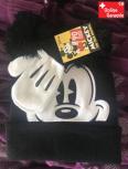 Disney Micky Maus Mickey Mouse Mütze Cap Beanie Kappe Handschuhe Handschuhen Winter Kleidung Set Winterset Kind Junge Boy