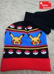 Pokemon Pokémon Pikachu Wintermütze Beanie Cap Mütze Kappe Handschuh Handschuhe Fan Set Winter Fan Kleidung Kleider Kind Kinder