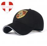 Porsche Fan Cap Mütze Kappe Schwarz Rot Baseball Baseballcap Auto Wappen