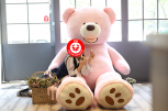 Mega Riesen Plüsch Teddy Bär 260cm Plüschbär Teddybär Plüschteddy Tedi Kuschelbär Rosa Pink 260cm Geschenk XXL XXXL Plüschtier Kind Frau Freundin