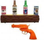 Wild West Shooting Wilder Westen Gunslinger Revolverheld Revolver Spielzeug Schiessbude IR Dose Dosen Schiessen