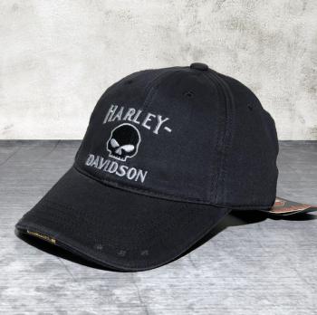 Harley-Davidson Baseball Cap Harley Skull Totenkopf Fan Biker Mütze Kappe Accessoire Baseball Schwarz