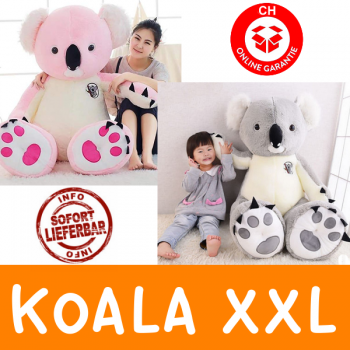 Koala Bär Koalabär Plüsch Plüschtier XXL 140cm 1.4m Koalabärchen Australien Geschenk Kind Kinder Frau Freundin Grau oder Pink