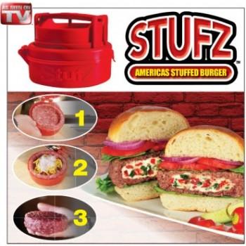 Stufz Gefüllte Hamburger Frikadellen Burger Presse aus den USA Schweiz