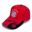 FC Bayern München Cap FCB Kappe Mütze Basecap Fan Rot Baumwolle