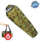 Militär Schlafsack Camouflage Mumienschlafsack Schlaf Sack Matte Camping Outdoor Festival Konzert Wald Berge Jagd getarnt ca. 220 * 80cm