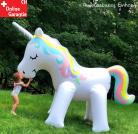 Einhorn Sprinkler XXL Einhorn Wassersprinkler Riesen Einhorn für den Garten Badi Pool Strand Wasserspielzeug Kind Mädchen Garten Aufblasbares Unicorn Sommer Wasser Gadget