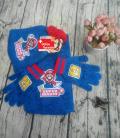 Nintendo Super Mario Bros. Fan Set 3 tlg Set bestehend aus Mütze Beanie Cap Kappe Schal Handschuhe Handschuhen Kind Kinder Winter Kleidung Fan Fanartikel Mario