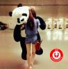 XXL Plüsch Pandabär 200 cm Panda Bär Teddybär Stofftier Plüschtier Kuscheltier Teddy Geschenk Kind Freundin