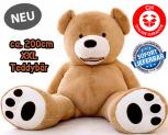 Riesen Teddybär XXL Teddy Bär Geschenk Plüsch Bär Plüschbär Kinder ca. 200cm 2 Meter