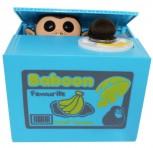 Elektronische Spardose Sparbüchse Affe Monkey Pfötchen Äffchen Japan Neuheit Sparschwein