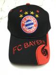 FC Bayern München Cap FCB Kappe Mütze Basecap Fan Rot Baumwolle Schwarz Rot Fussball Fanartikel
