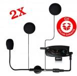Bluetooth Headset für Motorradhelme Helme Motorradfahrer 2 Stück