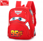 Disney Cars Lightning McQueen 95 Kinderrucksack Rucksack Tasche Auto Junge Kind Kinder Kindergarten Primarschule Rot