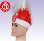 Schweiz Schwiiz Fan Hut Fanhut Irokese Fussball Hockey Freizeit WM EM