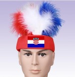 Kroatien Fan Stirnkappe Flagge Haare Kappe Fussball WM EM Support