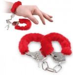 Lustige Rote Plüsch Handschellen für besondere Spiele Geschenk Idee