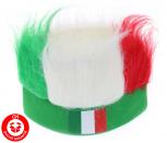 Italien Fan Kappe Mütze Lustig Fun Strubbelhaar Fussball EM WM Party Italy Flagge