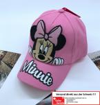 Disney Mädchen Minnie Maus Mouse Baseball Cap Mütze Kappe Baseball Girl 100% Baumwolle Pink Rosa