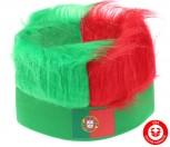 Portugal Fan Kappe Mütze Lustig Fun Strubbelhaar Fussball EM