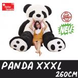 Mega Riesen Kuschel Bär Panda Pandabär XXL XXXL Kuscheltier Stofftier Teddy 260cm 2.6m Schleife Geschenk Kind Kinder Frau Freundin