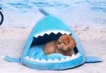 Hunde Hund Schlafplatz Hai Designer Kuschelhütte Kuschel Bett Tier Haustier Hai