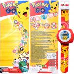 Pokémon Go Uhr Armbanduhr Projektor Geschenk Pokemon Pikachu Accessoires Fan Kind Kinder TV Serie Kino