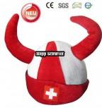 Hopp Schwiiz Schweiz Suisse Switzerland Fan Hörner Fanhut Hut Mütze WM Fussball WM EM Teufel