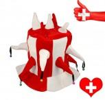 Schweiz WM EM Hut Narr Fan Rot Weiss Mütze Kappe Hopp Schwiiz Schellen Fanshop
