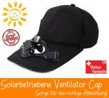 Solar Baseball Cap Mütze Kappe mit integriertem Mini Ventilator Sommer Sonne Gadget Solarkappe Modeaccesoire Solar-Baseball-Cap
