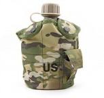 US Army Militär Feldflasche Wasserflasche Trinkbehälter Alu