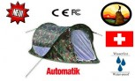 Militär Wurfzelt Sekundenzelt Schnellzelt Quick Zelt Open Air für Profi und Einsteiger
